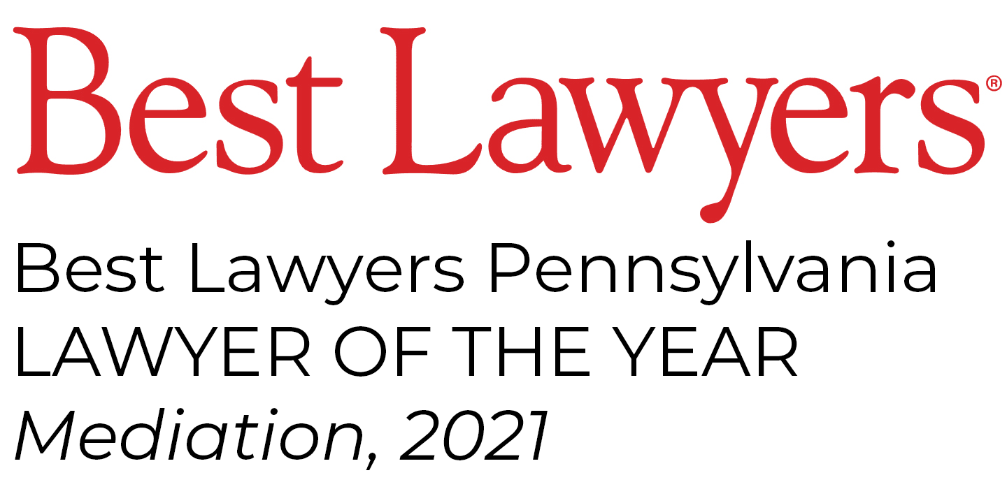Image: Best Lawyers Pennsylvania Lawyer of the year Mediation, 2021